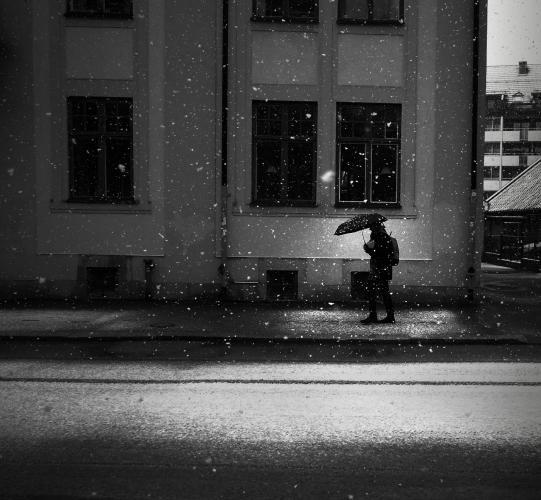 Snö i Västerås